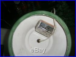 Vtg Ceramic Xmas tree light lamp Musical SILVER BELLS lovely glaze Holly base