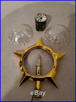 Vtg Christmas Bradford Celestial Star Tree Topper Spinner Working Condition