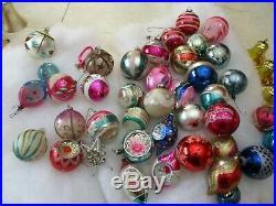 Vtg Christmas Tree Glass Ornaments Shiny Brite Poland USA Mixed lot of over 60