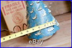 Vtg ECONOLITE Roto-Vue Blue Paper Christmas Tree Motion Lamp withBox WORKS