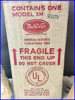 Vtg Econolite Roto-Vue Merrie Merrie Christmas Tree Motion Lamp Original Box