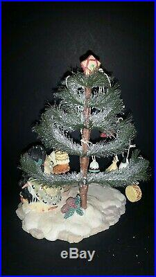 Vtg Friends of The Feather Christmas Tree Figurine & Ornaments 1998 Ensco 375586