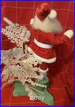 Vtg Harold Gale SANTA With White Tree Advertising COUNTER STORE DISPLAY 19 Mint