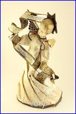 Vtg Koestel West Germany Lrg Wax Angel with Child & Babt Mini Ornament Tree Topper