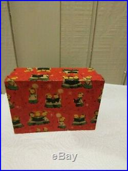Vtg Kreiss Christmas Santa and Mrs Claus/ and Christmas Tree Bell Original Box
