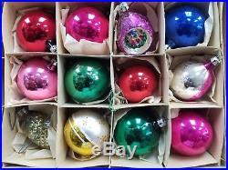Vtg Lot of 108 vintage Christmas Tree Glass Ornaments Poland Czechoslovakia