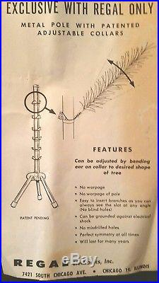 Vtg MCM 6' Ft Sapphire Aluminum Silver Christmas Tree +box + Instructions