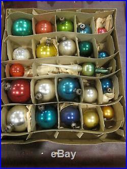 Vtg Mercury Glass Ornament Centerpiece Christmas Tree Ball Kit Mini Topper Spire