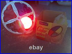 Vtg. Motorized 12 Penetray Color Wheel for Aluminum Christmas Tree Original Box