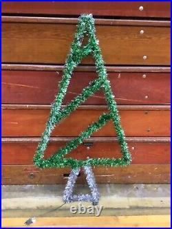 Vtg Municipal City Garland Christmas Tree Street Decoration 47 X 26 Rare Find