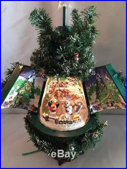 Vtg Musical Christmas Animated Tree Dancing Snowmen Winter Wonderland SEE VIDEO