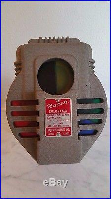 Vtg Naren Colorama Stage Theater Store Front Christmas Tree Color Wheel Light