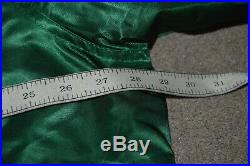 Vtg New Jersey Devils Starter Satin Style Bomber Jacket XL Christmas Tree