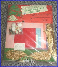 Vtg New Kids Animals 1950's Edna Looney/stokes Christmas Tree Skirt Craft Kit