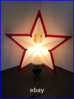 Vtg Paramount 9 Christmas Tree Top Star #720 Lighted Hard Plastic Working