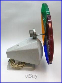 Vtg Penetray Motorized Color Wheel Aluminum Christmas Tree Works 1960s Orig Bulb