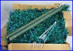 Vtg Pine Blue Green 6' Aluminum Christmas Tree