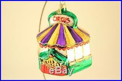 Vtg Polonaise Circus Band Set Blown Glass Xmas Tree Ornament Poland with Wood Box