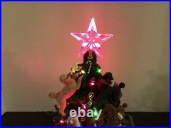 Vtg Rare Danbury Mint The Poodle Christmas Tree Illuminated Retired Working