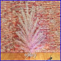 Vtg Regal Sapphire Aluminum Christmas Tree 6 Ft, 52 Branches Mid Century