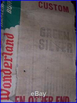 Vtg Revlis Starlite NOS 6' green silver tree aluminum # C-161 mid century 1950s