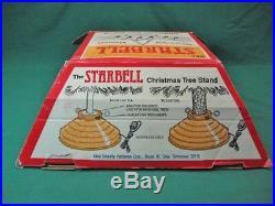 Vtg StarBell Revolving rotating Musical Christmas Tree Stand Serviced Guaranteed