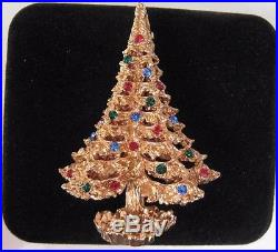 Vtg Trifari Christmas Tree Brooch Pin not signed same design Mid-Modern Century