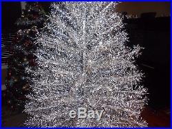 WONDERFUL Big 7ft Vtg ORIGINAL Starlite Silver Aluminum Christmas Tree No Stand
