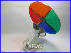 WORKING Vintage Holly Time Color Wheel CW-1 1950s 1960s Christmas Tree Aluminum