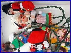 Walt Disney's It's A Small World Festive Christmas Tree Lite Set Vintage Japan