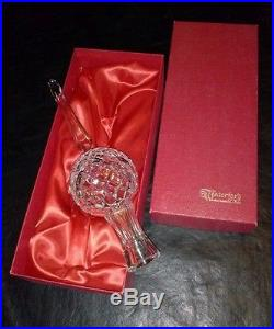 Waterford Crystal Christmas Tree Topper New In Box Vintage Globe 10 1/2 Tall
