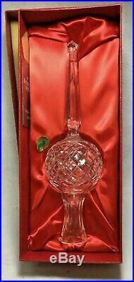 Waterford Lismore Diamond Crystal Christmas Tree Topper in Original Box Vintage