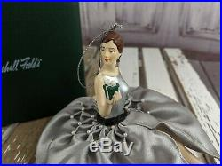 Women lady Marshall Fields ornament give lady wants vintage present xmas tree