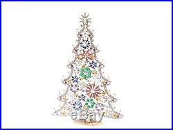 X large Free standing Czech vintage rhinestone Christmas tree ornament 12.5